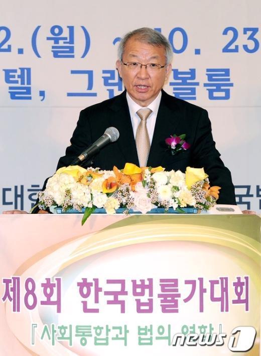[사진]법률가대회 축사하는 양승태 대법원장