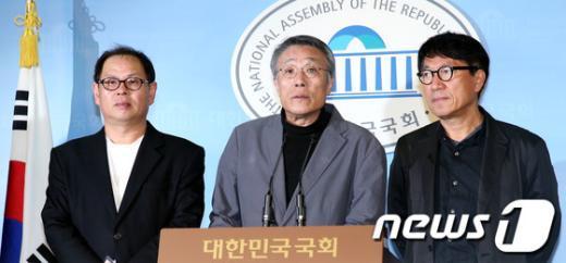 [사진]문재인-안철수 단일화 촉구하는 문화예술인들