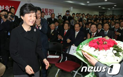 [사진]박근혜와 장미