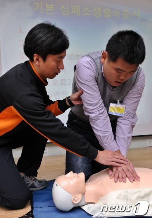 [사진]'지적장애인 근로자 심폐소생술 교육'