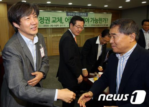 [사진]조국 교수, 민주당 쇄신 토론회 참석