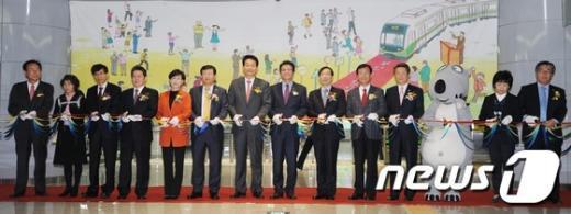 [사진]서울시-부천시, 지하철 7호선 연장 개통 기념식