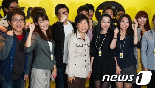 [사진]카카오톡 직원들 만난 박근혜