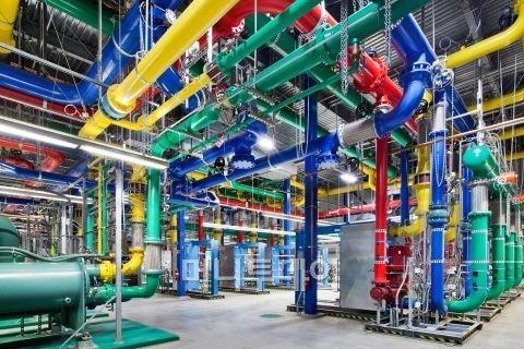 구글 데이터센터 냉각 장치.