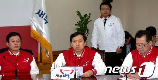 [사진]원내보고하는 김기현 원내수석부대표