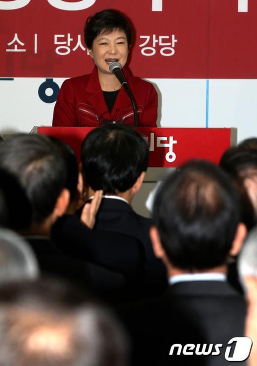 """[사진]박근혜 후보 """"단일화 이벤트"""""""