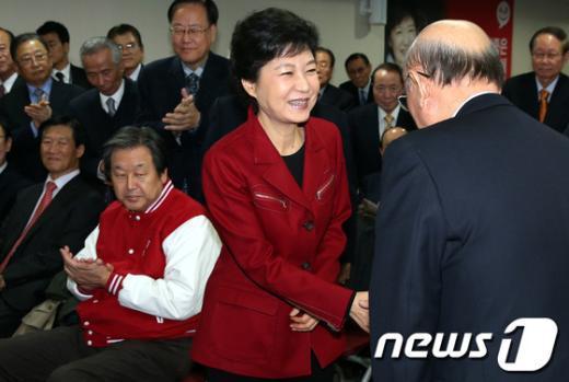 [사진]국책자문위원회 필승결의대회 참석한 박근혜 후보