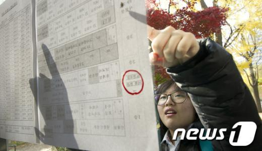 [사진]2013학년도 수능 예비소집 시작