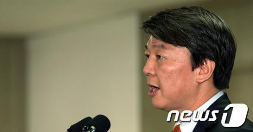 [사진]안철수 후보, 통일ㆍ외교정책 발표