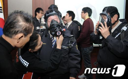 [사진]강서소방서, 지하철9호선 관계자 교육