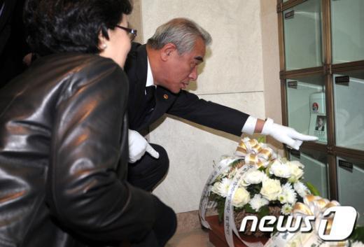 [사진]최광식 장관, 故 박병선 박사 추모식 참석