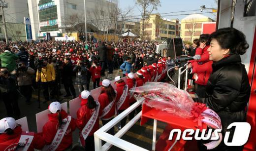 [사진]지지 호소하는 박근혜 후보