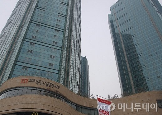 ↑서울 마포구 합정동 '메세나폴리스' 주상복합아파트단지 모습. ⓒ송학주 기자