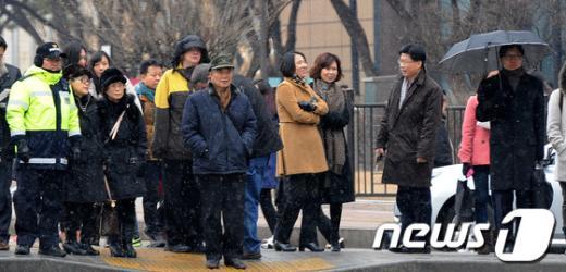 [사진]'서울도 눈오네?'