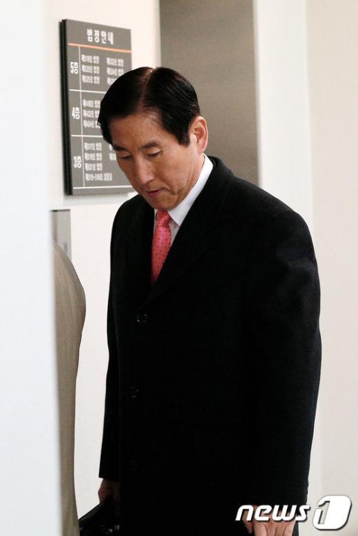 [사진]법정 출석하는 조현오 前 청장