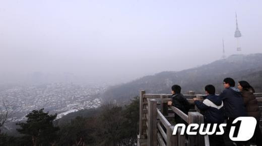 [사진]짙은 연무 낀 서울