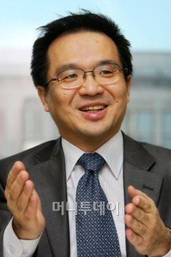 ↑김홍선 안랩 대표이사.