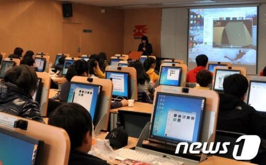 [사진]서울우정청, 직원자녀에게 정보화 교육