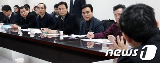 [사진]간담회 참석한 택시업계 관계자들