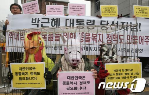 [사진]동물복지 정책 촉구하는 시민단체