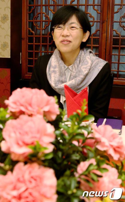 [사진]밝은 표정의 이정희 전 대표