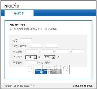 신용카드정보 입력 유도하는 피싱 페이지 기승