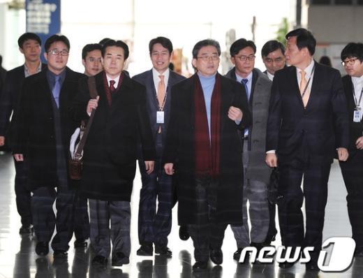 """[사진]출국하는 """"박근혜 정부"""" 한미정책협의단"""