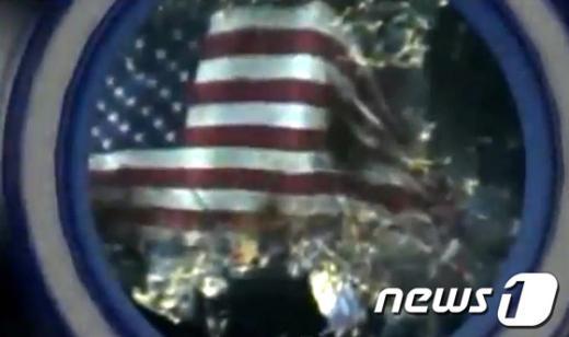 [사진]성조기 불태우는 北 선전 동영상