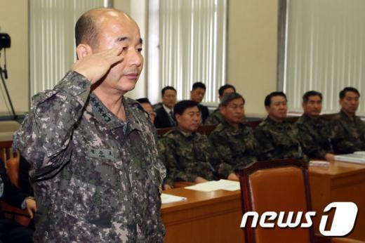 [사진]국회 국방위 출석한 합참의장