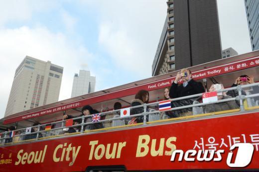 [사진]천장개방형 서울시티투어버스 시승식