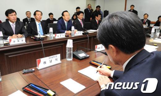 [사진]인수위-전국시도지사협의회 간담회