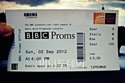 ↑ BBC 프롬스의 티켓