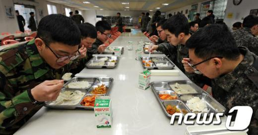 [사진]군에서 먹는 설 떡국