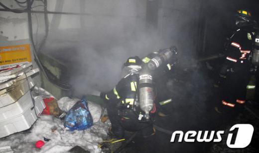 [사진]설날 독산동 상가건물 화재...2명 사망