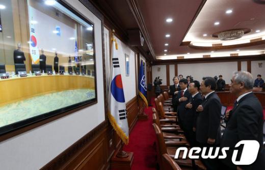 [사진]서울-세종청사 첫 영상 국무회의