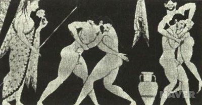 BC 530년경의 레슬링 ⓒ체육학대사전