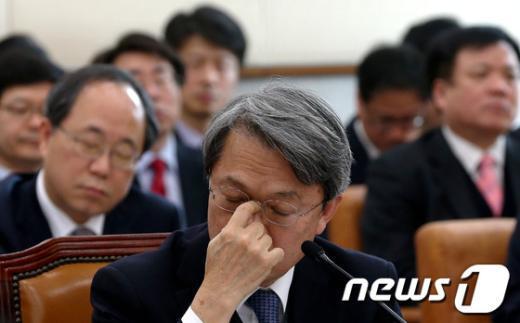 [사진]국회 법사위 출석한 양건 감사원장