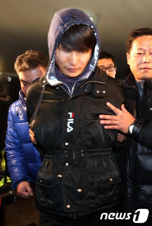 """[사진]""""층간 소음"""" 살인 피의자, 수원서 검거"""