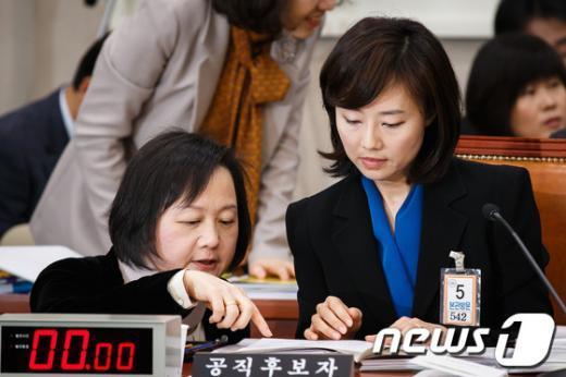 [사진]청문회 준비 분주한 조윤선