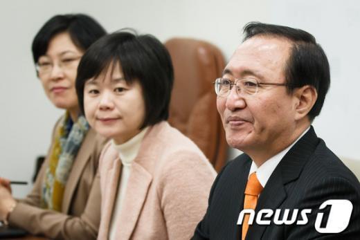 [사진]최고위원회의 참석한 노회찬