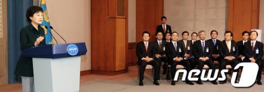 [사진]朴대통령, 취임 후 첫 대국민담화 발표