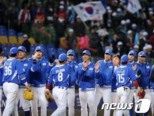 [사진]다시 웃음 찾은 한국야구대표팀