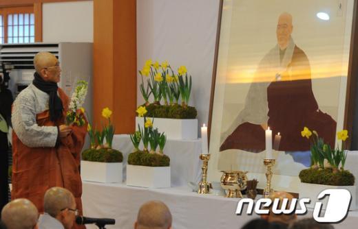 [사진]법정스님 3주기 추모법회