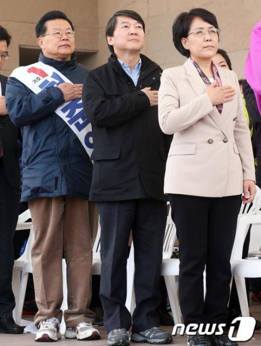 [사진]비장한 표정의 노원병 예비후보들