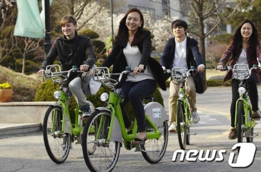 [사진]건국대, 학생들에게 자전거 무상 장기대여