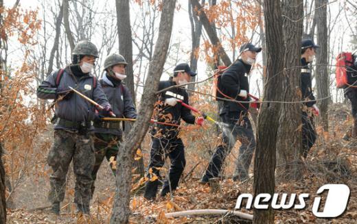 [사진]산불대응 합동 소방훈련