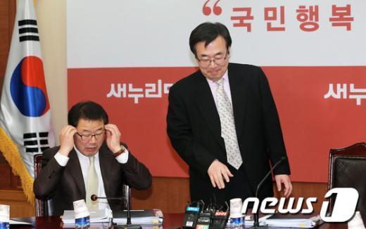 [사진]공천심사위 참석하는 서병수 사무총장