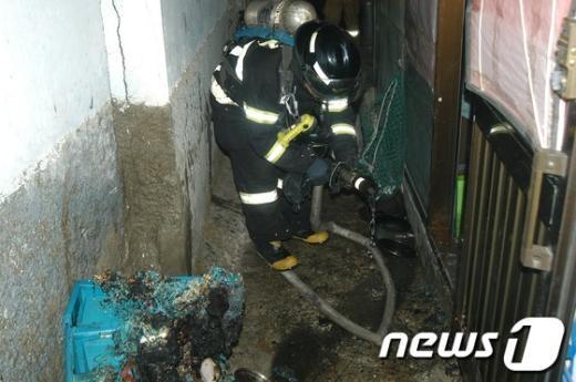 [사진]송파소방서, 거여동 화재진압
