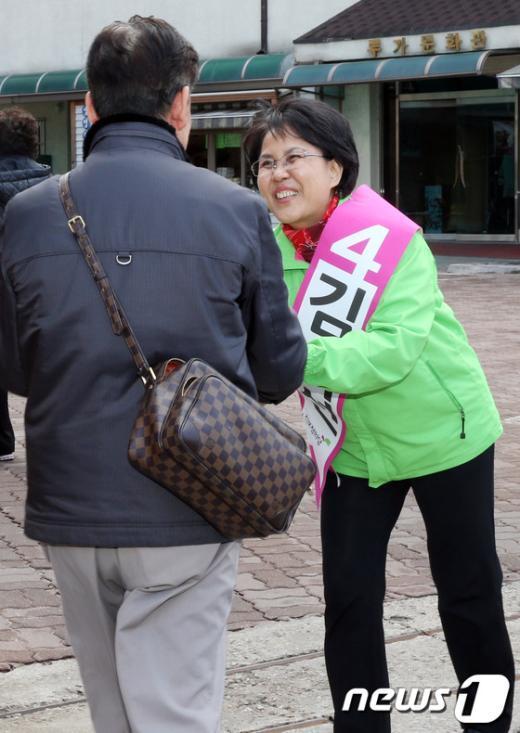 """[사진]김지선, """"정의 바로 세우겠습니다"""""""