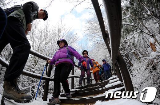 [사진]상고대 핀 북한산 등반